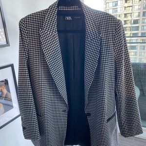Oversized Gingham Blazer
